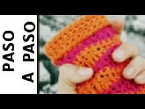 Funda para Smartphone o Tablet en Crochet (Ganchillo) - Tejido en Ondas