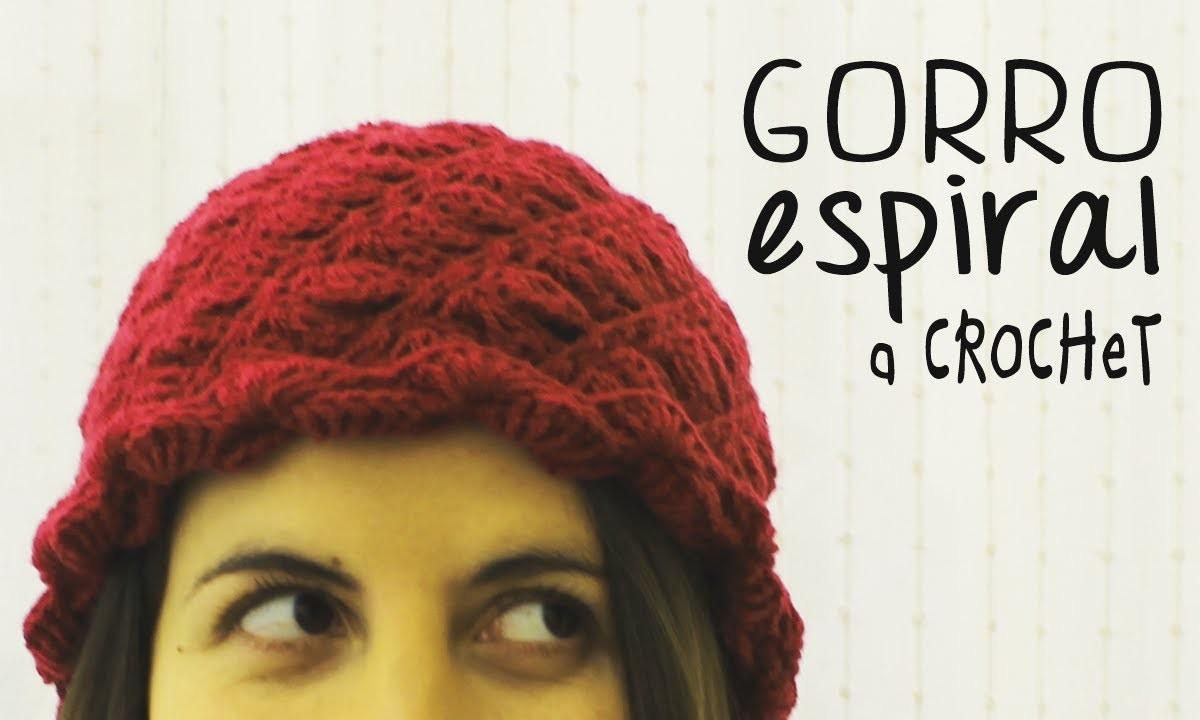 Gorro a Crochet Tejido Espiral - PASO A PASO