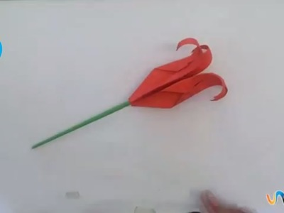 Hacer una rosa origami
