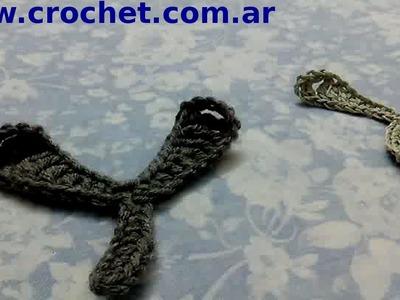 Hoja N° 6 en tejido crochet tutorial paso a paso.