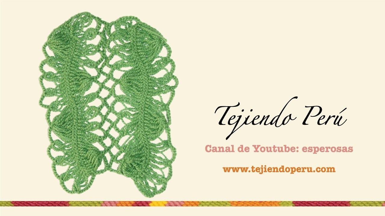 Horquilla: unión de tiras con rombos a crochet