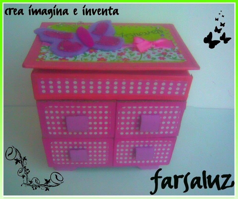 IDEA ( como decorar un alajero de  cartón) Scrapbook