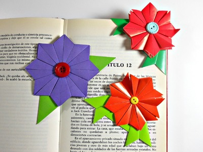 Marcapáginas de origami modular | Flor de origami modular | Origami Bookmark | Mundo@Party