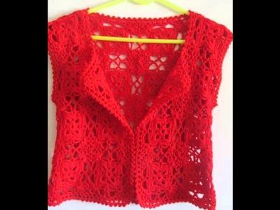 Modelos de blusas tejidas a crochet para verano