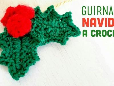 NAVIDAD | Guirnalda de Muérdago a Crochet - Paso a Paso