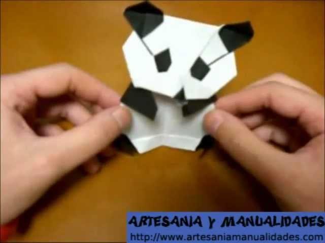 Origami como hacer un oso panda