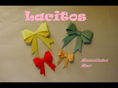 Origami - Papiroflexia. Lazos, explicados paso a paso (español)
