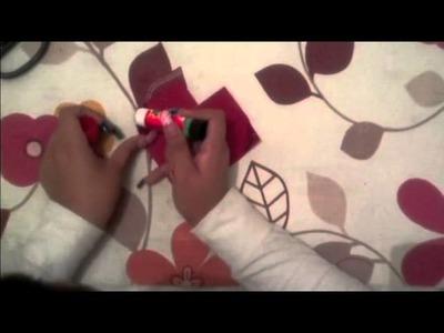 Para este 14 de FEBRERO  tarjeta de corazon con 2 bolsillos ( origami ) by MAWE