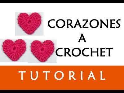 PATRÓN CROCHET: CORAZONES (PEQUEÑO) | Patrones Valhalla