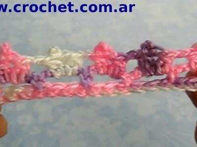 Puntilla N° 17 en tejido crochet tutorial paso a paso.