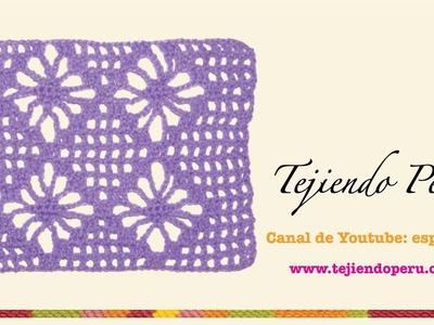 Punto araña tejido en crochet