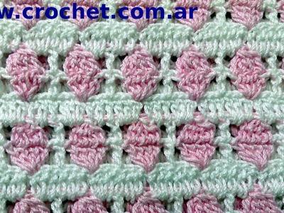 Punto Fantasia en tejido crochet tutorial paso a paso.