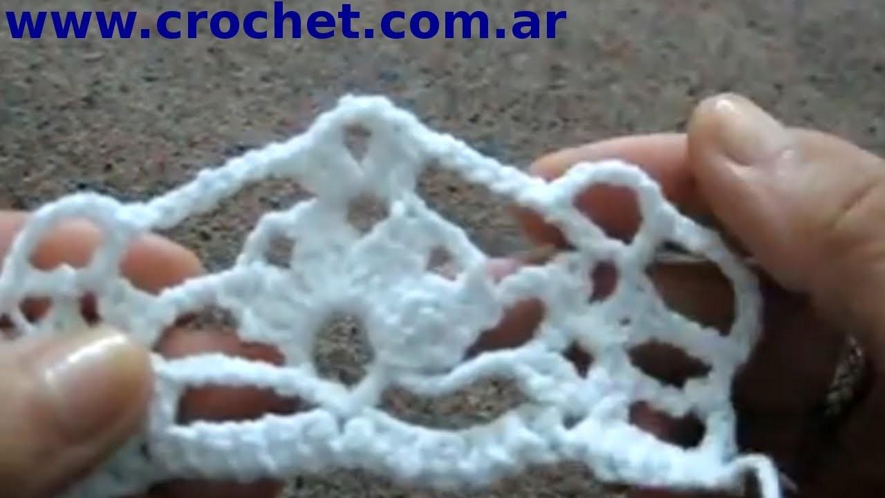 Punto Fantasía N° 55 (Parte 3) en tejido crochet tutorial paso a paso. N° 55.