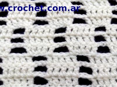 Punto fantasía Nº 71 en tejido crochet tutorial paso a paso.