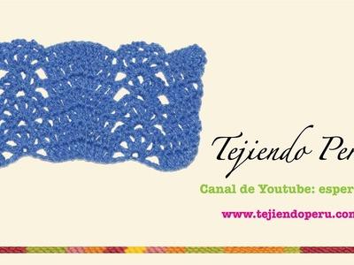 Punto fantasía tejido a crochet ondas con abanico (y cobija)!