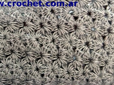 Punto jazmín tradicional en tejido crochet tutorial paso a paso.