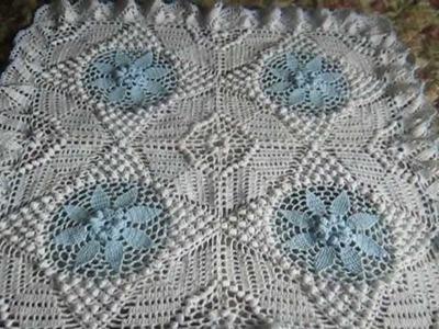 REBOZO O MANTILLA a crochet