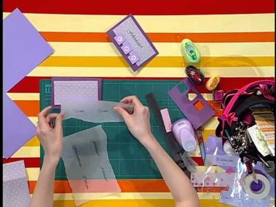 Rincón de Arte  --  tarjeta de felicitaciones en scrapbook