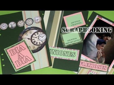 Scrapbooking: Portada de Agenda - DIY - Scrapbooking: Diary Cover