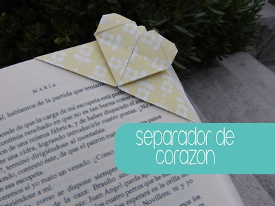 Separador de corazón, origami
