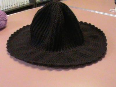 Sombrero con ala ancha (con gancho o crochet) Parte 1.