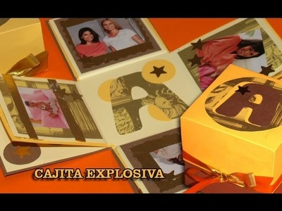 Tarjeta Explosiva con Fotos - DIY - Explosive Card with Pics