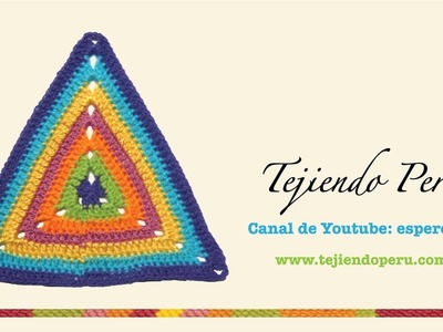 Tejido triangular en crochet