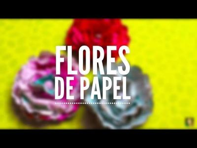 TUTORIAL Cómo hacer flores de papel.DIY Paper Flowers
