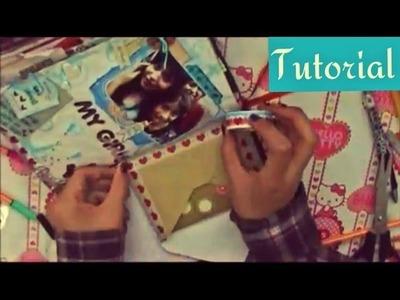 TUTORIAL SCRAPBOOK ♥ SMASH BOOK Haz una pagina conmigo ♥ (10  08  2013)