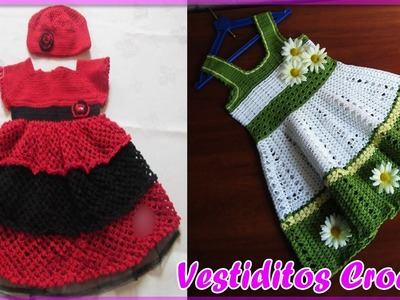 Vestidos Para Bebe Niña Con Patrones - Tejidos a Crochet Parte #2