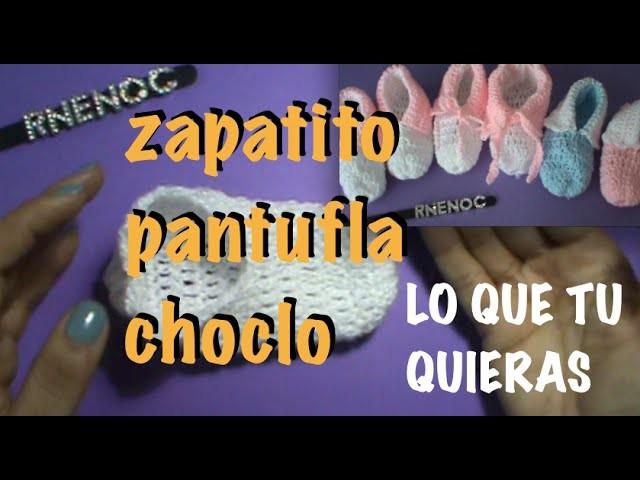 ZAPATO PANTUFLA FACIL de tejer Ganchillo Crochet