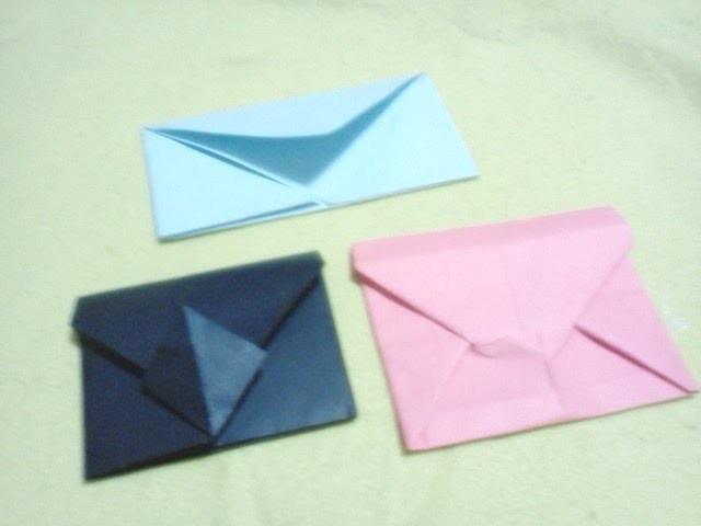 3 Diferentes formas de hacer sobres (origami)