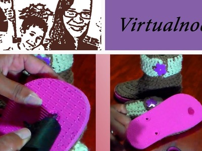 Arreglo de Botas tejidas reversibles en Crochet