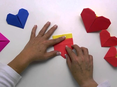 Arte con papel - Videocápsula 4 - Corazón de origami