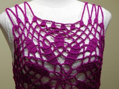 Blusa Bugambilia Crochet parte 2 de 2