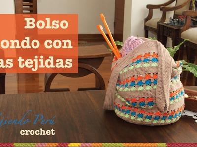 Bolso redondo tejido a crochet muy fácil!