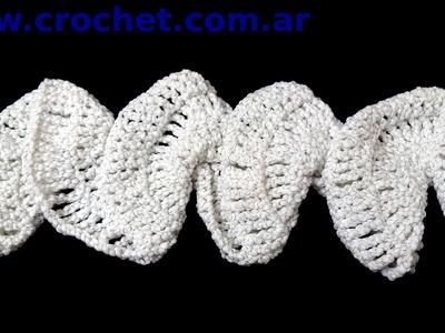 Bufanda Espiral en tejido crochet tutorial paso a paso.