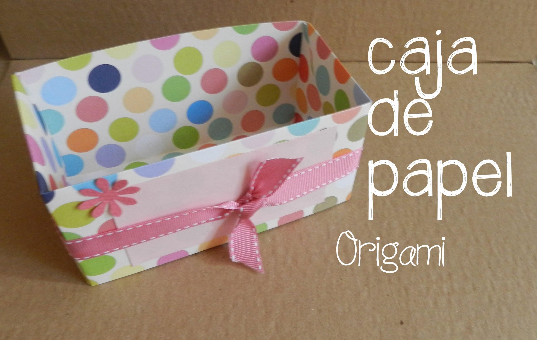 Caja de papel, origami DOS
