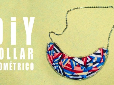 COLLAR BABERO  TEJIDO DIY  - bib necklace