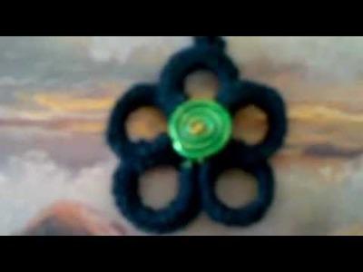 Collar flor de crochet y pulseras