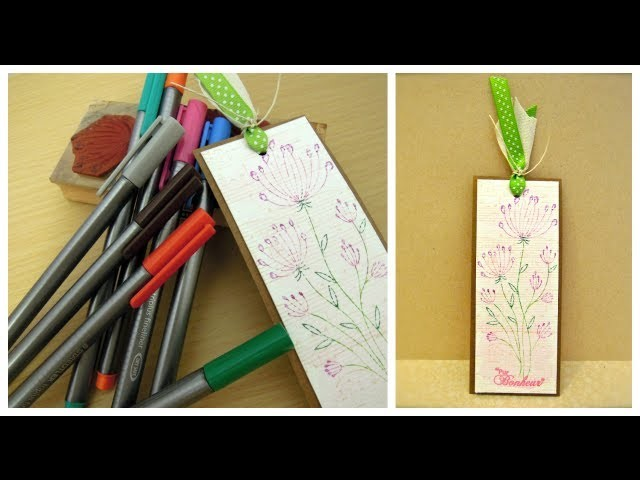 Como estampar con rotuladores. Tutorial scrapbook