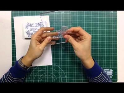 Cómo estampar con sellos acrílicos - TUTORIAL Scrapbook - Principiantes