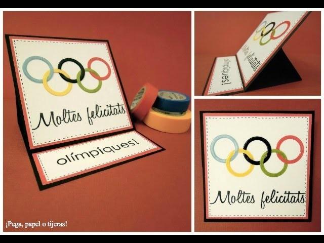Cómo felicitar a los campeones olímpicos. Tarjeta caballete (Easel Card) Tutorial Scrapbook