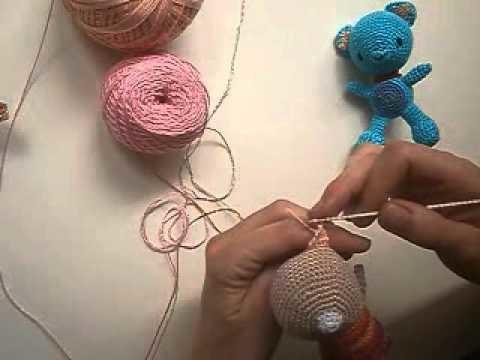 Como hacer amigurumi oreja oso ganchillo crochet