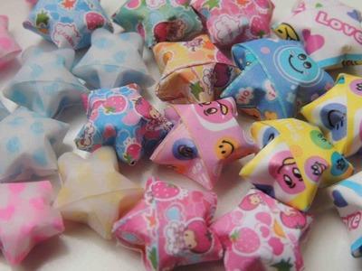 Como hacer estrellas en 3D origami. How to make Lucky stars origami. . estrellas de la suerte.