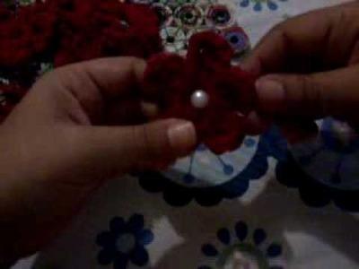 Como hacer flores de crochet paso a paso tutoriales de manualidades tejido