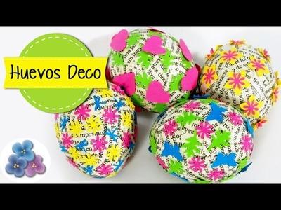 Como Hacer Huevos de Pascua FACIL con Papel Impreso Tutorial DIY Pintura Facil