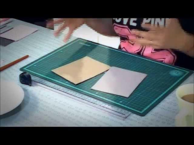 Como hacer las tapas para una agenda - Scrapbooking