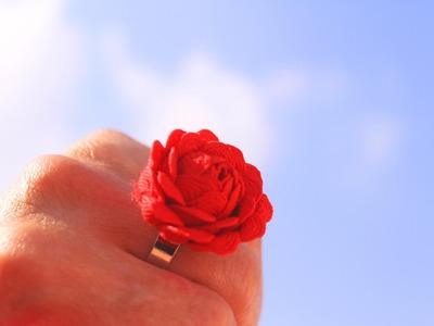 Cómo hacer un anillo con forma de flor con picolina | Tutorial DIY