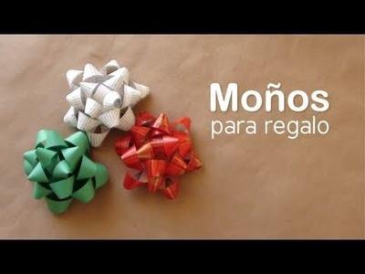 Como hacer un moño para regalo. DIY Gift bows